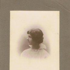 Fotografía antigua: FOTO DE SEÑORITA CON CUELLO ALZADO.CA.1910. FOTÓGRAFO: ANT.Y EMILIO F.DIT NAPOLEON.BARCELONA.. Lote 56312103