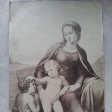 Fotografía antigua: POSTAL VIRGEN CON EL NIÑO Y SAN JUAN. PRINCIPIOS DE SIGLO. Lote 56472135
