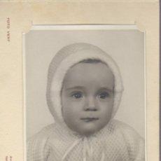 Fotografía antigua: FOTOGRAFIA DE UN NIÑO FOTO VERT MANRESA. Lote 56618485