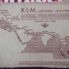 Fotografía antigua: CATALOGO FOTOGRAFICO - KLM LUFTLINIEN HOLLAND - ITINERARIO DE LUFTHANSA 1930 - AVIACION COMERCIAL. Lote 56721978