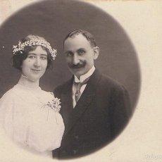 Fotografía antigua: FOTO RECUERDO DE BODA. ESCRITA DESDE ARTÀ (MALLORCA).15 JULIO 1913. FOTÓGRAFO:MATORRODONA.. Lote 56820934