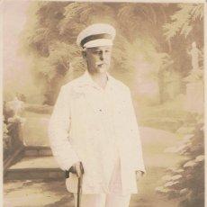 Fotografía antigua: FOTO RETRATO DE CABALLERO VESTIDO DE BLANCO.CA.1910. FOTOGRAFIA BÚLGARA. BAPHA (BULGARIA). Lote 56869681