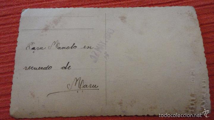 Fotografía antigua: ANTIGUA FOTOGRAFIA DE CHICA EN TRAJE TIPICO.FOTO BAEZ.HUELVA.1943 - Foto 4 - 56880828