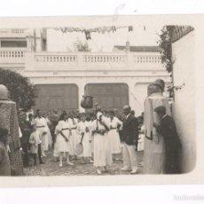 Fotografía antigua: BADALONA, AGOSTO 1916. JUEGO DE LA OLLA Y CABEZUDOS. FOTO: JOSÉ SAGARRA. Lote 57043791