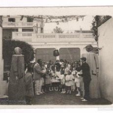 Fotografía antigua: BADALONA, AGOSTO 1916. JUEGO DE LA OLLA, GIGANTES O CABEZUDOS. FOTO: JOSÉ SAGARRA. Lote 57043944