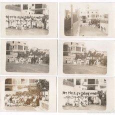 Fotografía antigua: BADALONA, AGOSTO 1916. GRUPO EN PISTA DE TENIS. 7 FOTOS DE: JOSÉ SAGARRA, VER.. Lote 57045953
