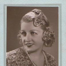Fotografía antigua: FOTO RETRATO DE ESTUDIO DE SEÑORITA. CA.1940. FOTÓGRAFO: ANDREU. LA GARRIGA (BARCELONA). Lote 57121821