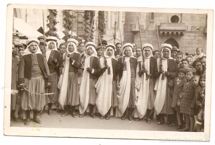 ALCOY. MOROS Y CRISTIANOS. POSTAL FOTOGRÁFICA ANTIGUA (Fotografía Antigua - Tarjeta Postal)