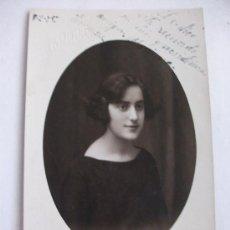 Fotografía antigua: RETRATO DE SEÑORITA, AÑO 1925 . FOTOGRAFO: ESQUEMBRE , ELCHE. Lote 57292266