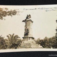 Fotografía antigua: GALICIA - CORUÑA - FOTO ANTIGUA - MONUMENTO LINARES RIVAS. Lote 57344077