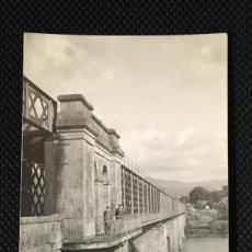 Fotografía antigua: GALICIA - PONTEVEDRA - TUY - TUI - PUENTE - FOTO ANTIGUA - POSTAL FOTOGRAFICA. Lote 57344626