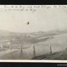 Fotografía antigua: GALICIA - PONTEVEDRA - TUY - TUI - VALENÇA DO MINHO - PUENTE - FOTO ANTIGUA - POSTAL FOTOGRAFICA. Lote 57344642