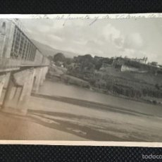 Fotografía antigua: GALICIA - PONTEVEDRA - TUY - TUI - VALENÇA DO MINHO - PUENTE - FOTOGRAFIA ANTIGUA. Lote 57344669