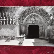 Fotografía antigua: ANTIGUA FOTOGRAFIA DE OLITE (NAVARRA). AÑOS 50. IGLESIA DE SANTA MARIA. Lote 57380541