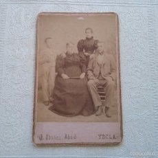 Fotografía antigua: FOTOGRAFO J.IBAÑEZ ABAD. YECLA. RETRATO DE FAMILIA. Lote 57849839