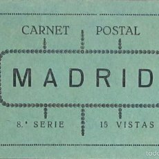 Fotografía antigua: MADRID. CARNET POSTAL. 8ª SERIE. 15 VISTAS. Lote 58013966