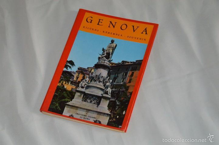 LIBRO CON 17 FOTOGRAFÍAS DE GENOVA A TODO COLOR - AÑOS 50 - GENOVA - RICORDO - REMEMBER - SOUVENIR (Fotografía Antigua - Tarjeta Postal)