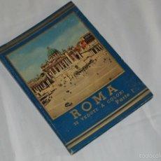 Fotografía antigua: LIBRO CON 32 FOTOGRAFÍAS DE ROMA A TODO COLOR - AÑOS 50 - ROMA 32 VERDUTE A COLORI, PARTE I. Lote 58114127