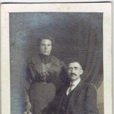 Fotografía antigua: FOTOGRAFIA AMERICAN HOLOGRAFT - PAREJA O MATRIMONIO.. Lote 58353234
