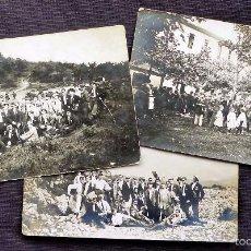 Fotografía antigua: 3 FOTOGRAFÍAS. 22-JUNIO-1913. EXCURSIÓN A LA CAMPA DE ARRABA ORGANIZADA POR EL C. DEPORTIVO BILBAO.. Lote 58480207