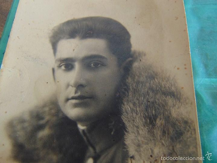 Fotografía antigua: FOTO FOTOGRAFIA TARJETA POSTAL DE MILITAR DEDICADA - Foto 2 - 60359115