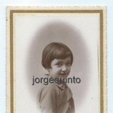 Fotografía antigua: RETRATO. CAYETANITO. 17-11-1930. JOSÉ MATRÁN FOTÓGRAFO. CARTAGENA Y ÁGUILAS, MURCIA.. Lote 60687503