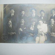Fotografía antigua: POSTAL ANTIGUA ALOGRAFF, CONDE ASALTO, 36 BARCELONA. PERSONAJES.. Lote 61022547