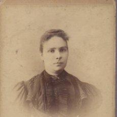 Fotografía antigua: BUENA FOTOGRAFIA SEÑORA 1880 APROXIMADO FOTOGRAFIA ENRIQUE ORRIT MANRESA. Lote 61631964