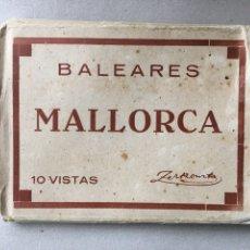 Fotografía antigua: ALBUM 10 VISTAS FOTOGRÁFICAS PALMA BALEARES MALLORCA ADOLFO ZERKOWITZ BARCELONA. Lote 62133623