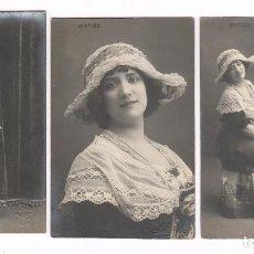 Fotografía antigua: PURITO MONTORO (VALENCIA 1892-BARCELONA 1915) ARTISTA DEL PARALELO, 3 FOTOS DE AMADEO Y ESPLUGAS. Lote 62277396