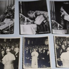Fotografía antigua: TRES TARJETAS POSTALES SIN CIRCULAR Y TRES FOTOS ORIGINALES DEL PAPA PIO XII. Lote 62311920