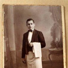 Fotografia antica: CAMARERO - 1930'S - FOTOGRAFIA GAUSI - BARCELONA . Lote 64285051