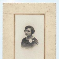 Fotografía antigua: RETRATO FEMENINO. FOTÓGRAFOS HARO HERMANOS. CARTAGENA, MURCIA.. Lote 64325459