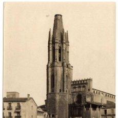 Fotografía antigua: PRECIOSA FOTOGRAFIA - GERONA - CAMPANARIO DE SAN SAN FELIX. Lote 64713035