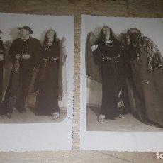 Fotografía antigua: 2 SIMPATICAS FOTOGRAFIAS DE PERSONAS EN CARNAVAL, 14 X 9 CM. Lote 65479814