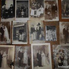Fotografía antigua: MAS DE 40 FOTOS ANTIGUAS, ALGUNAS TARJETAS POSTAL, OTRAS ENMARCADAS VARIOS TAMAÑOS.. Lote 65682870