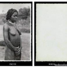 Fotografía antigua: FOTOGRAFIA. MUJER NTUMU. PEINADO. GUINEA ESPAÑOLA. Lote 66083438