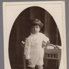 Fotografía antigua: ANTIGUA FOTOGRFIA DE UN NIÑO ALBERT RIFA SABADELL. Lote 66315898
