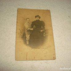 Fotografía antigua: ANTIGUA FOTO MADRE E HIJO . FOTOGRAFO CASAS. Lote 66505146