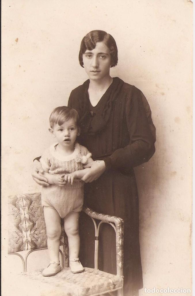 ANTIGUA FOTOGRAFÍA - POST CARD - MADRE CON HIJO - MADRE CON NIÑO (Fotografía Antigua - Tarjeta Postal)