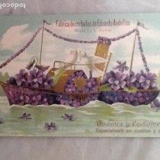 Fotografía antigua: ANTIGUA POSTAL CON PUBLICIDAD DE LA FABRICA DE CORBATAS DE EDUARDO ANDRILLON DE MADRID -. Lote 67108921