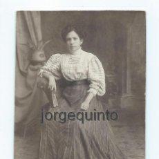 Fotografía antigua: RETRATO FEMENINO. TÁRRAGA Y ALMAGRO FOTÓGRAFOS. CALLE ALJEZARES, 21. MURCIA.. Lote 67333797