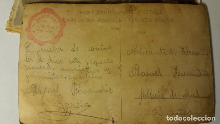 Fotografía antigua: 2 ANTIGUAS TARJETAS POSTAL FOTOGRAFICA ORIGINAL, AÑOS 30/40 COMUNION - Foto 3 - 67341093