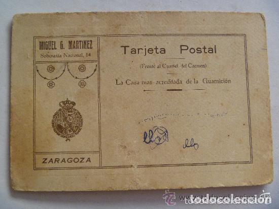 Fotografía antigua: FOTO ESTUDIO MILITAR DE ARTILLERIA CON BANDOLERA Y BAYONETA. DE MIGUEL MARTINEZ, ZARAGOZA - Foto 2 - 67684393