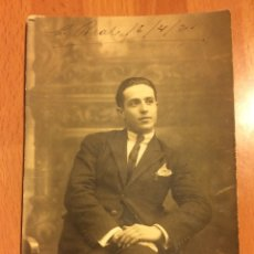 Fotografía antigua: FOTO HOMBRE CON TRAJE.FOTO LINARES.FECHADA CIUDAD REAL 1921. Lote 67762590