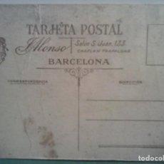 Fotografía antigua: TARJETA POSTAL - J. ALONSO , BARCELONA .. Lote 69239525