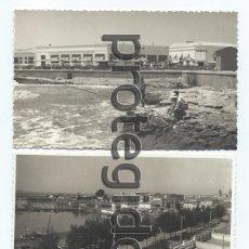 Fotografía antigua: LOTE DE 2 FOTOGRAFÍAS. TORREVIEJA, ALICANTE. DARBLADE. TORREVIEJA.. Lote 69296017