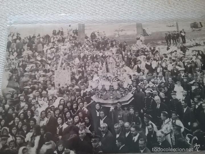 CASAS IBAÑEZ. ALBACETE. VIRGEN DE LA CABEZA (Fotografía Antigua - Tarjeta Postal)
