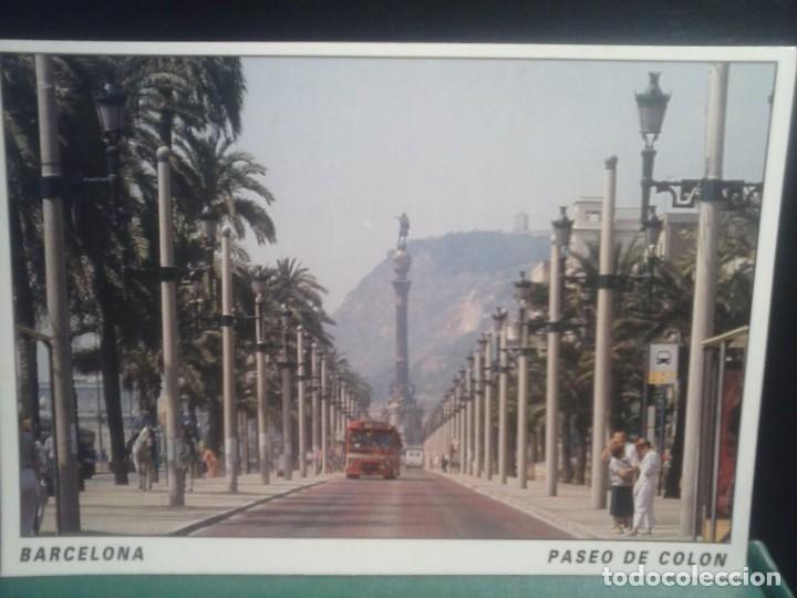 TARJETA POSTAL - PASEO COLON - BARCELONA . (Fotografía Antigua - Tarjeta Postal)
