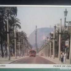 Fotografía antigua: TARJETA POSTAL - PASEO COLON - BARCELONA .. Lote 69901341